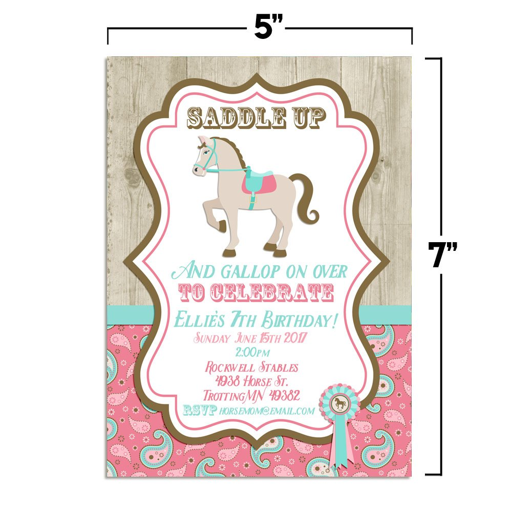Horse, Show Horse, Birthday Party Fill In Invitations, Set of 10 5 X ...
