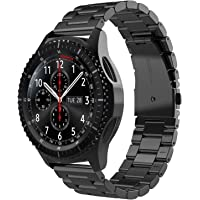 Simpeak Band Compatible with Gear S3 Frontier/ S3 Classic, 22mm Premium Stainless Steel Bracelet Strap Replacement for…
