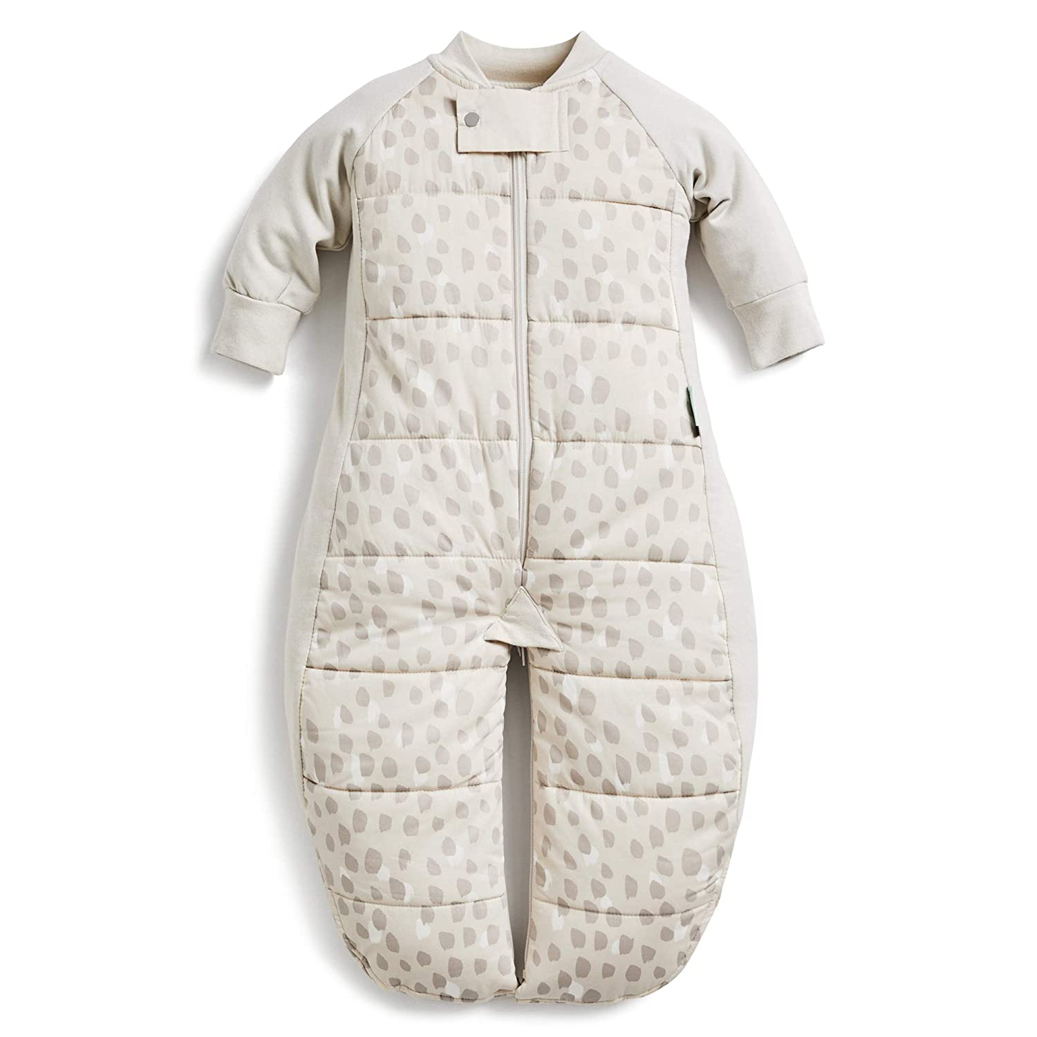 ergoPouch 2.5 TOG Sleep Suit Bag 100% Organic Cotton Filling with Cotton Sleeves and fold Over Mitts. 2 in 1 Wearable Blanket Sleeping Bag converts to Sleep Suit with Legs (Fawn, 2-12 Months)