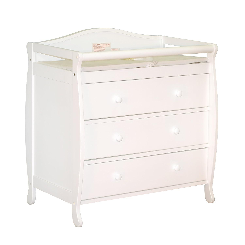 Amazon AFG Athena Grace I Changing Table White Baby