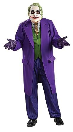 683ad6ebe946cc UHC Men s Deluxe Batman Arkham City Joker Halloween Super Villain Costume