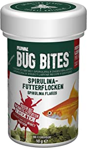 Fluval Bug Bites Fish Food with Spirulina, Flakes for Small to Medium Sized Fish, 0.63 oz.