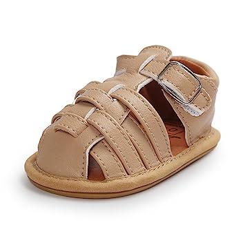 Mädchen Streifen Leder Baby Schuhe mit Klettverschluss 3mm gepolsterte Sohle xsBIrW8dp