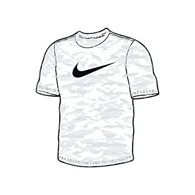 Nike Mens Dri-Fit Attack Camo Training T-Shirt White 932504-100 Size