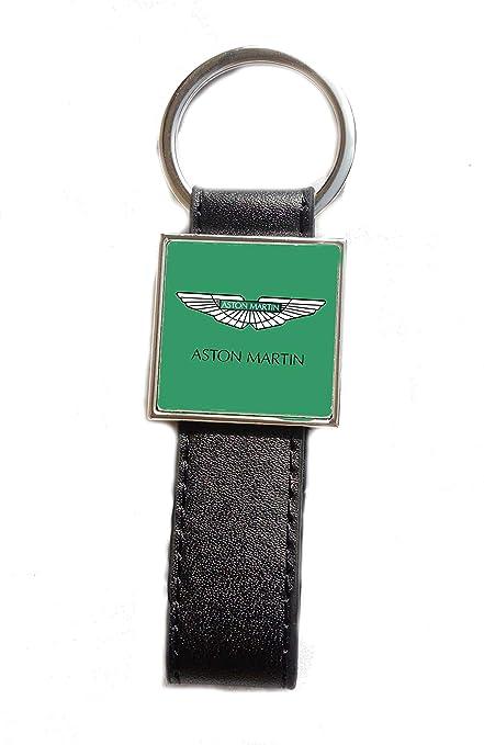 Llavero de Acero y Piel sintética con Logotipo de Aston ...