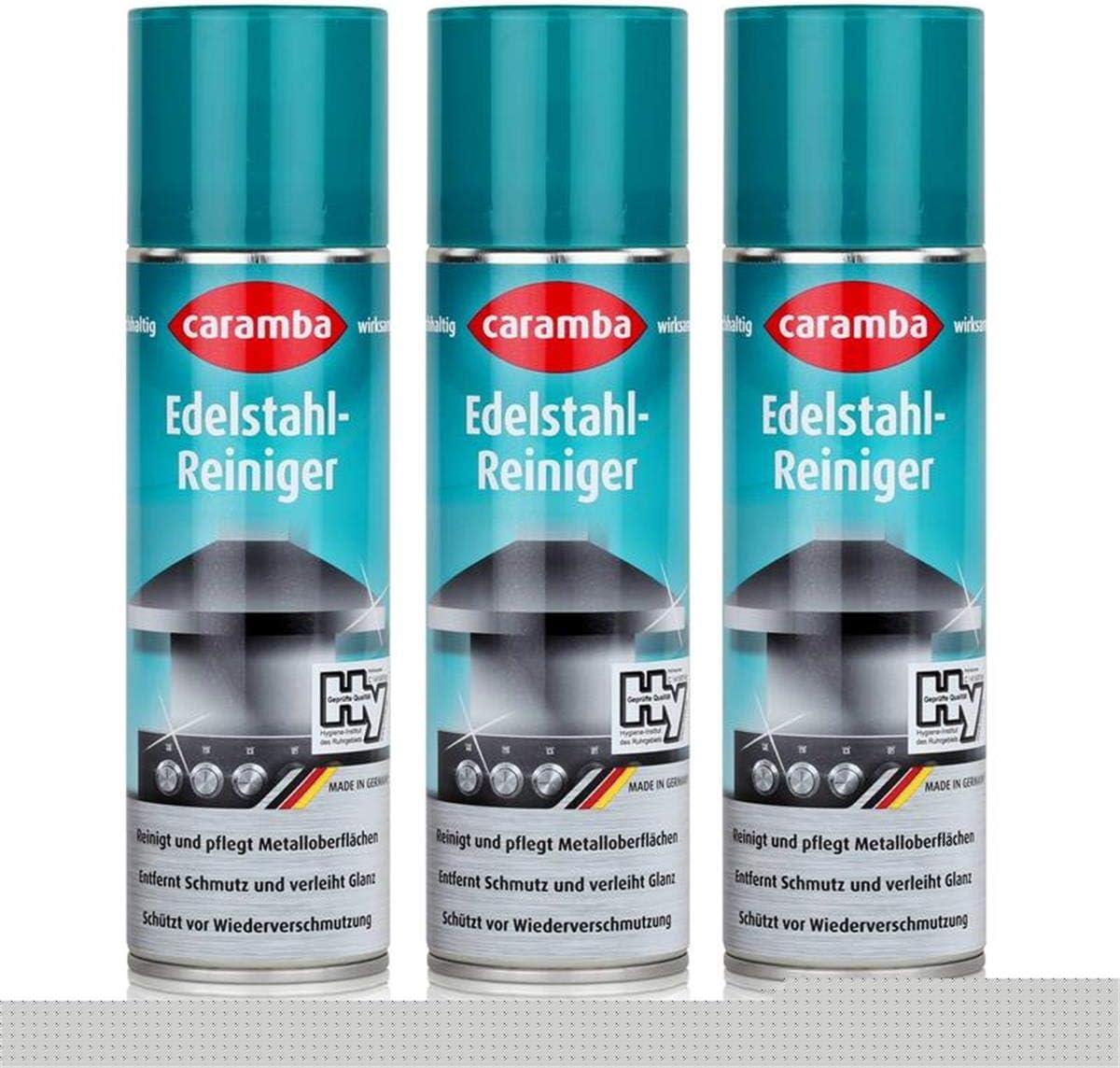 Caramba Spray para limpiador de acero inoxidable – 250 ml – Limpia y cuida – 633002 (3 unidades): Amazon.es: Hogar