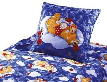 Biber Bettwäsche Teddy Bär Bären Baby-Bettwäsche 100x135 cm Farbe Blau Günstig