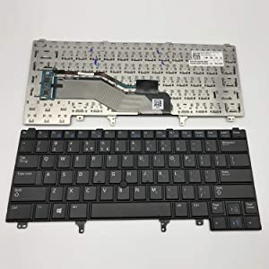 Sierra Blackmon Replacement Keyboard with Pointer Non-Backlit for Dell Latitude E6320 E6420 E6330 E6430 E6440 E5420 E5430 Series Black US Layout, Compatible with Part# C7FHD 0C7FHD