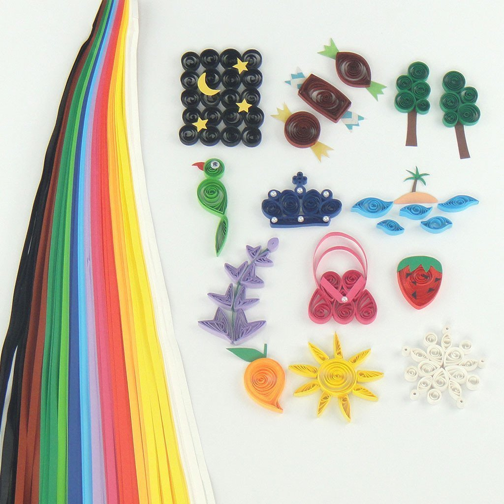 Ultimate Quilling Kit-Motorized Multifunction Quilling Tool - Super Quiller; Includes Border Buddy, Quilling Board, Quilling Strips and Quilling Mould - A Super Fun Creative Kit And Great Gift by Quill On