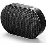 GGMM Mini WLAN Lautsprecher Mobiler Smart Speaker mit Multiroomsystem Powerful Stereo-Sound 15-Stunden-Spielzeit Bluetooth Lautsprecher integrierter Amazon Alexa Funktion, Unterstützt die Anbindung an Spotify, Airplay, DLNA, iHeartRadio, Sirius XM, Tidal Napster usw. Schwarz