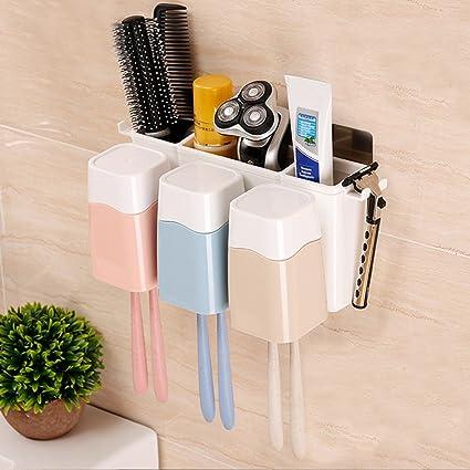 creativo Creativo de succión de pared cepillo de dientes titular de cuarto de baño lechón enjuague