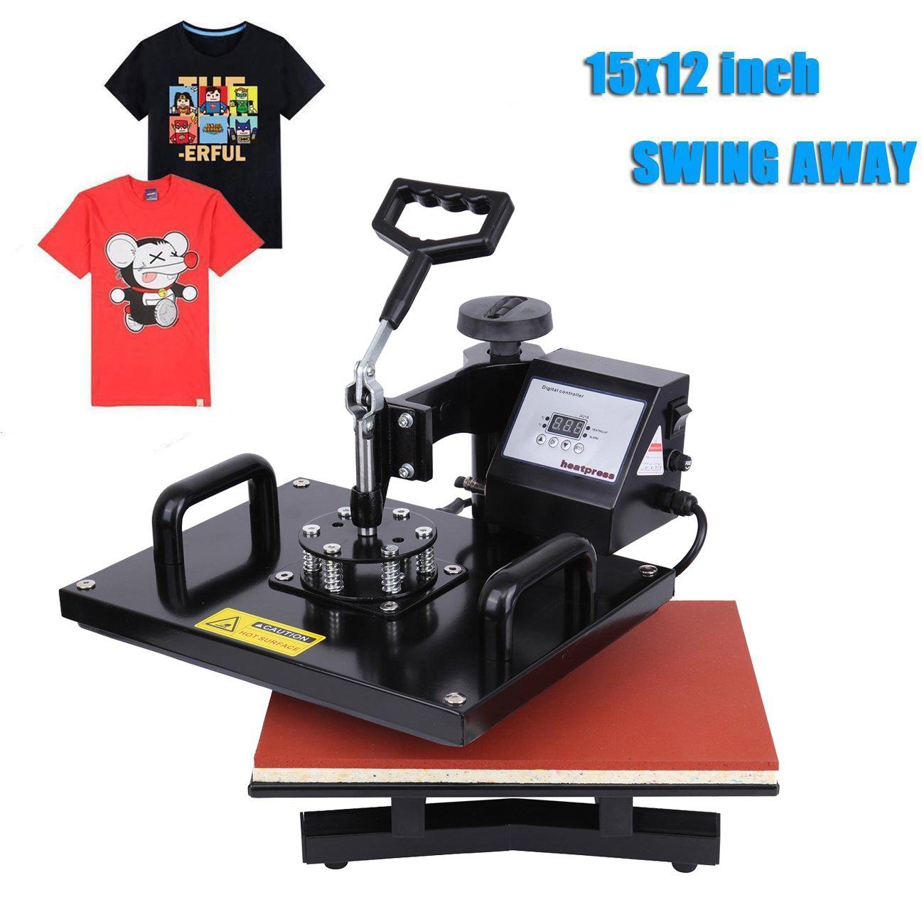 PanelTech 15''x12'' T-shirt Heat Press Digital Transfer SublimationSwing-away W/ Rigid Base by PanelTech