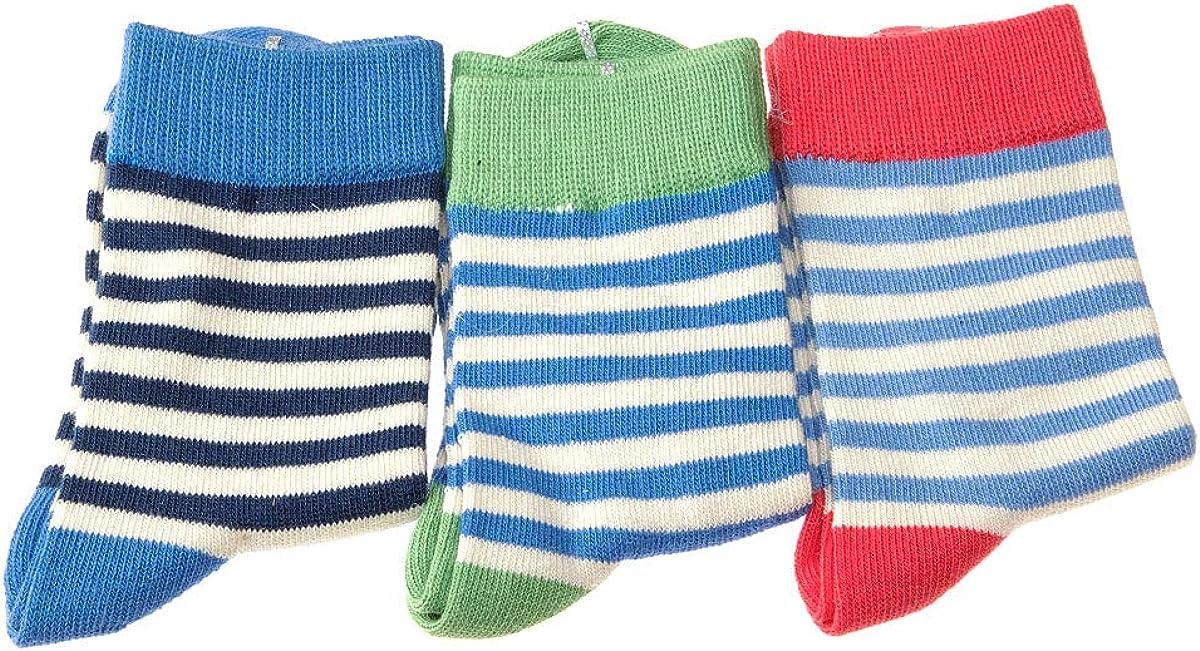 Lot de 3 Fine Boys socks Talon color/é InterSocks Chaussette Niveau mollet Coton Sans bouclette