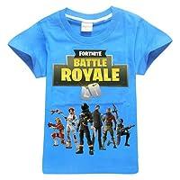 ZIGJOY Fortnite Gaming Gamer Unisexe Cotton T-Shirt Top Tee pour Les Enfants