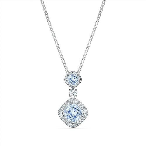 Swarovski Collier Angelic, bleu, métal rhodié: Amazon.fr: Bijoux