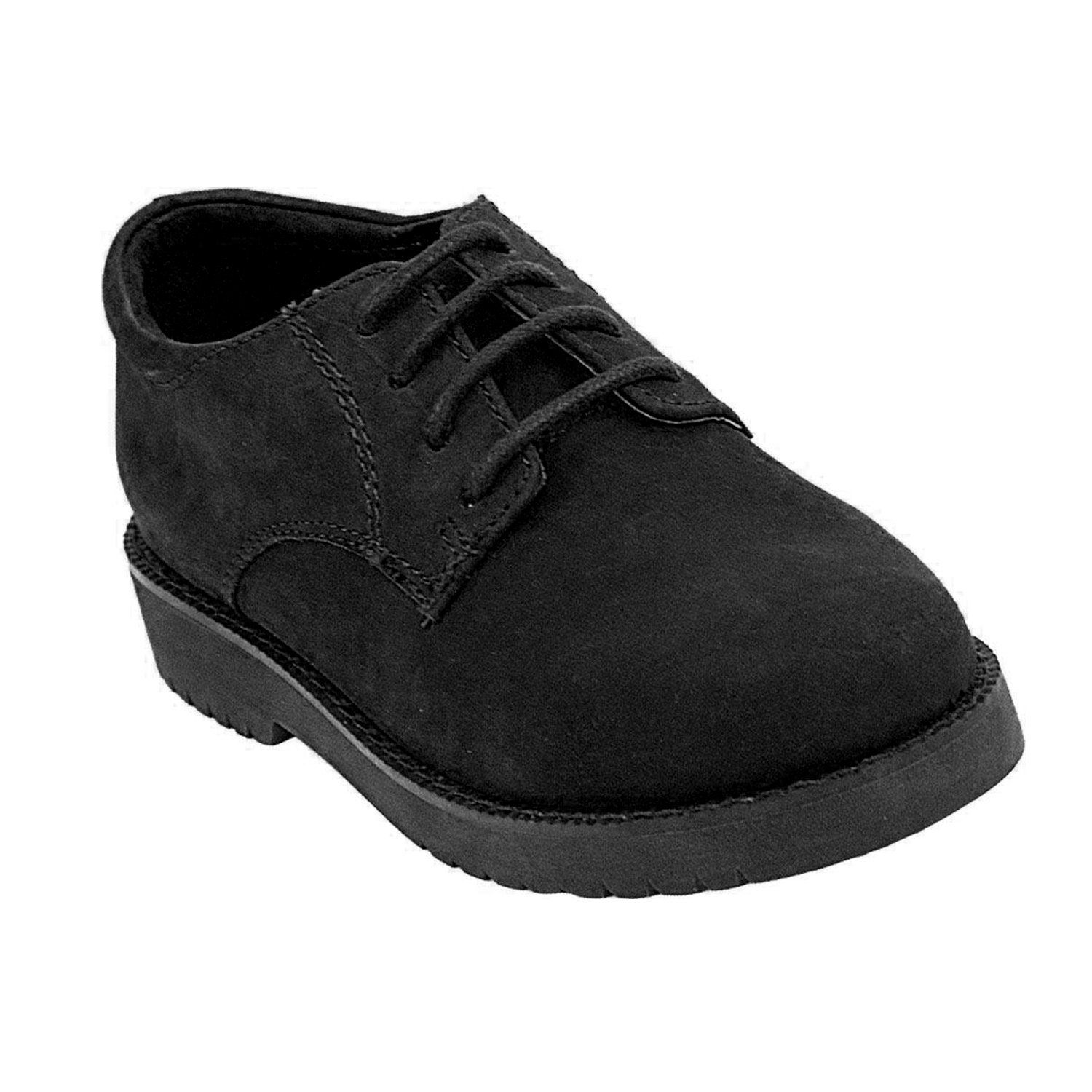 Academie Gear James Stitched Oxford-Style Leather Penny Loafers for Women and Men with Non-Marking Soles, in Black Nubuck Oil Size 7 M