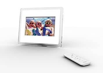 i mate momento 70 7 inch wireless digital picture frame clear