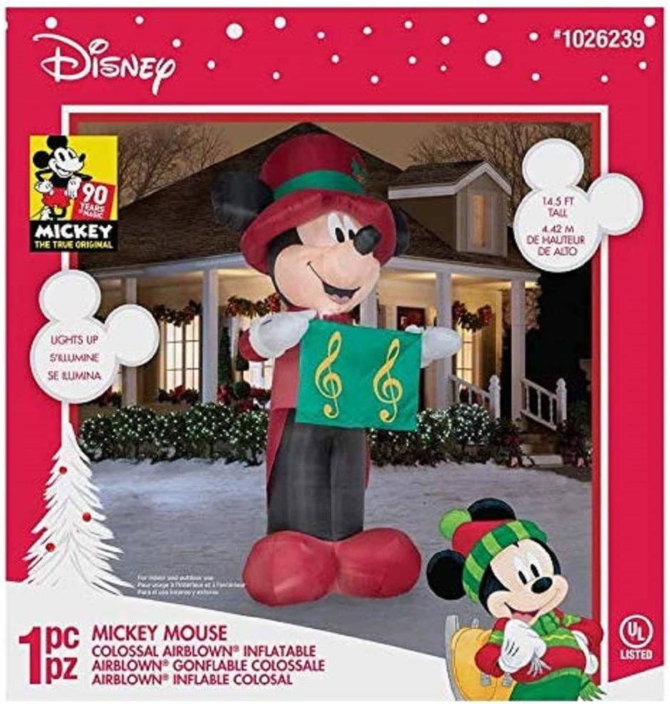 Disney 14 5 ft Lighted Mickey Mouse Christmas Inflatable
