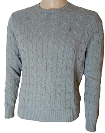 70376409e18b25 Polo Ralph Lauren Men's Pony Cable Knit Crewneck Sweaters at Amazon Men's  Clothing store: