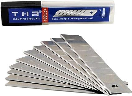 Universal-Cuttermesser │ 5 St/ück │ 18 mm │ mit Abbrechklingen │ mit Metallschiene │ Teppichmesser │ Mehrzweckmesser │ Sparpack │ by FD-Workstuff