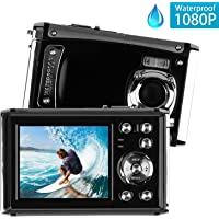 Heegomn 12MP 1080P 3M Waterproof Digital Camera with 8X Digital Zoom, Rechargeable Battery