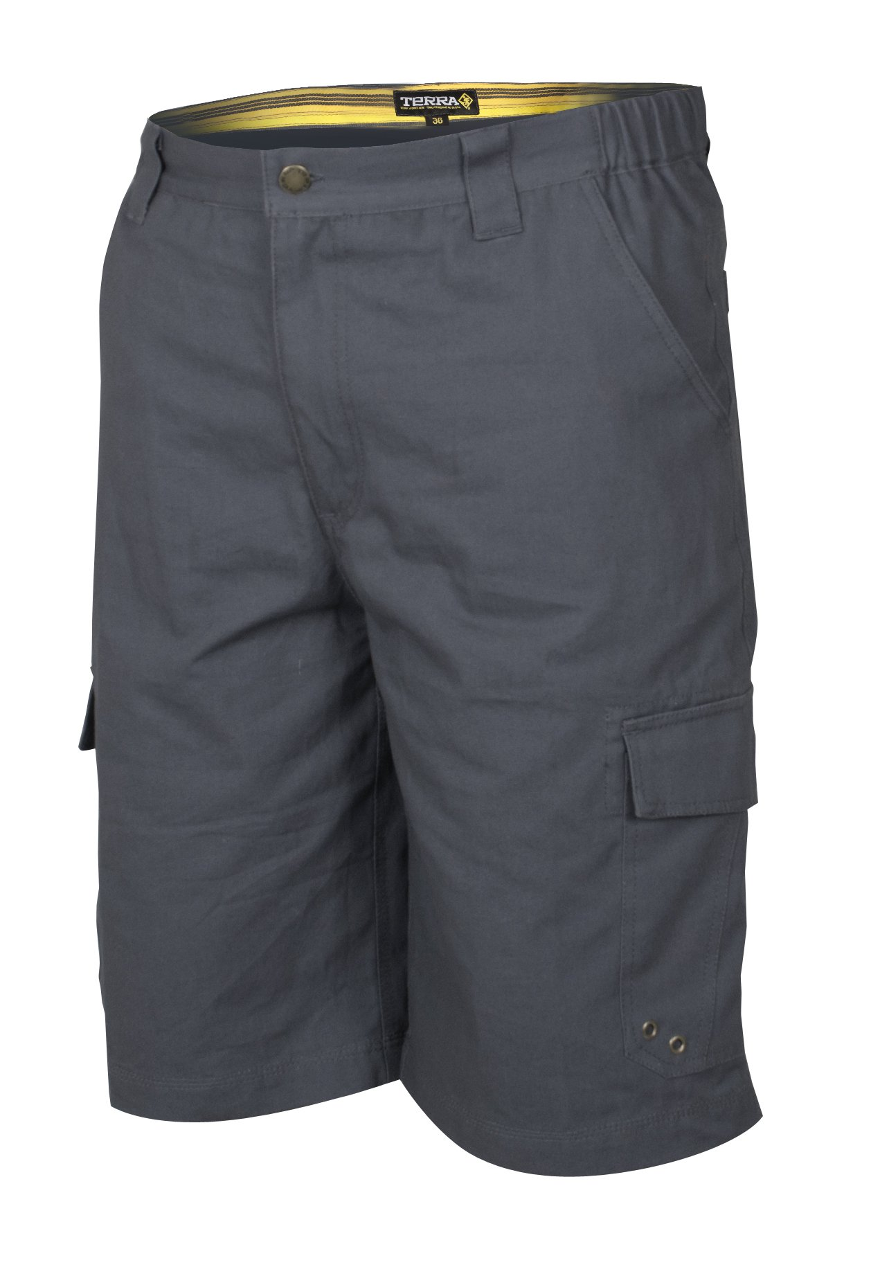 Terra 10-0113-CH34 Vice 100% Cotton Heavy Duty Multi-Pocket Cargo Style Work Short Safety Pants with 34'' Waist