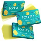 Fomin 3-Pack (300 Sheets) Foaming Hand Soap Sheets - Antibacterial Paper Soap Sheets for Traveling And Camping Soap Paper Sheets (Lemon)