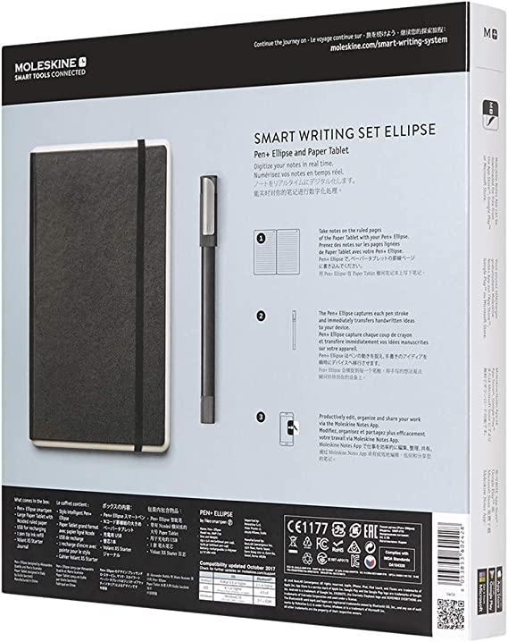 Moleskine Pen Ellipse Smart Writing Set Pen Ruled Smart Notebook Use With Moleskine Notes App For Digitally Storing Notes Only Compatible With Moleskine Smart Notebooks Computers Accessories