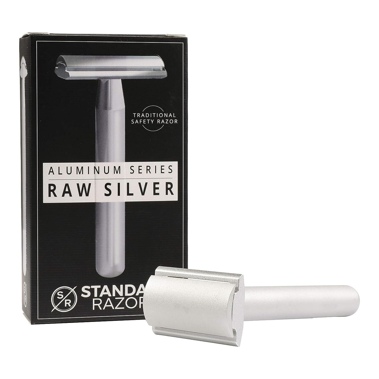Standard Razors Aluminum Series Double Edge Safety Razor in Raw Silver