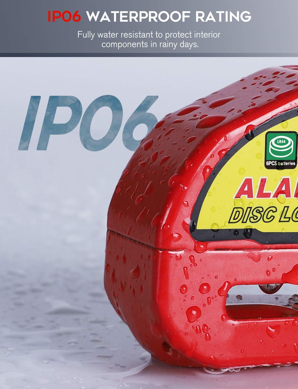 Amazon.com: Candado de freno de disco, alarma de 110 dB ...
