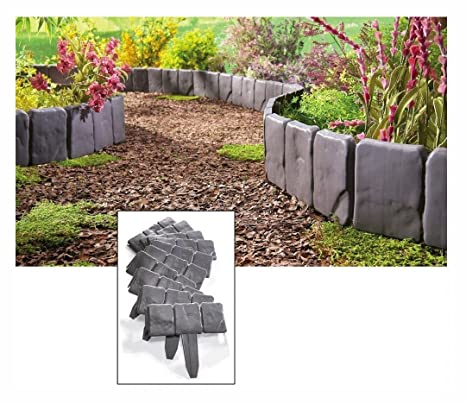 new interlocking faux stone border edging 10 piece garden borders landscaping look