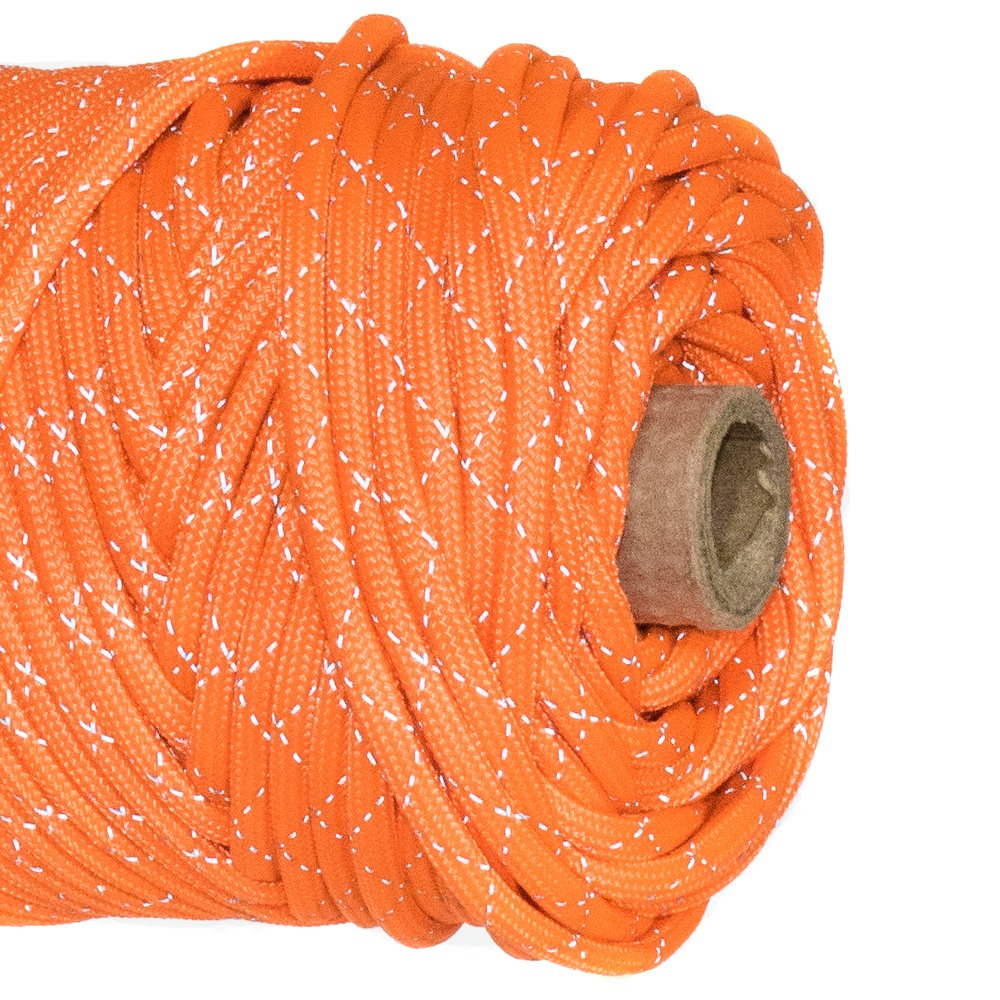Paracord Planet 700lb Criss Cross Double-Reflective Paracord - 2 Bright Retro-Reflective Tracers for the Best in High-Visibility Cord - 100% Nylon Cord is Made in the USA by PARACORD PLANET (Image #5)