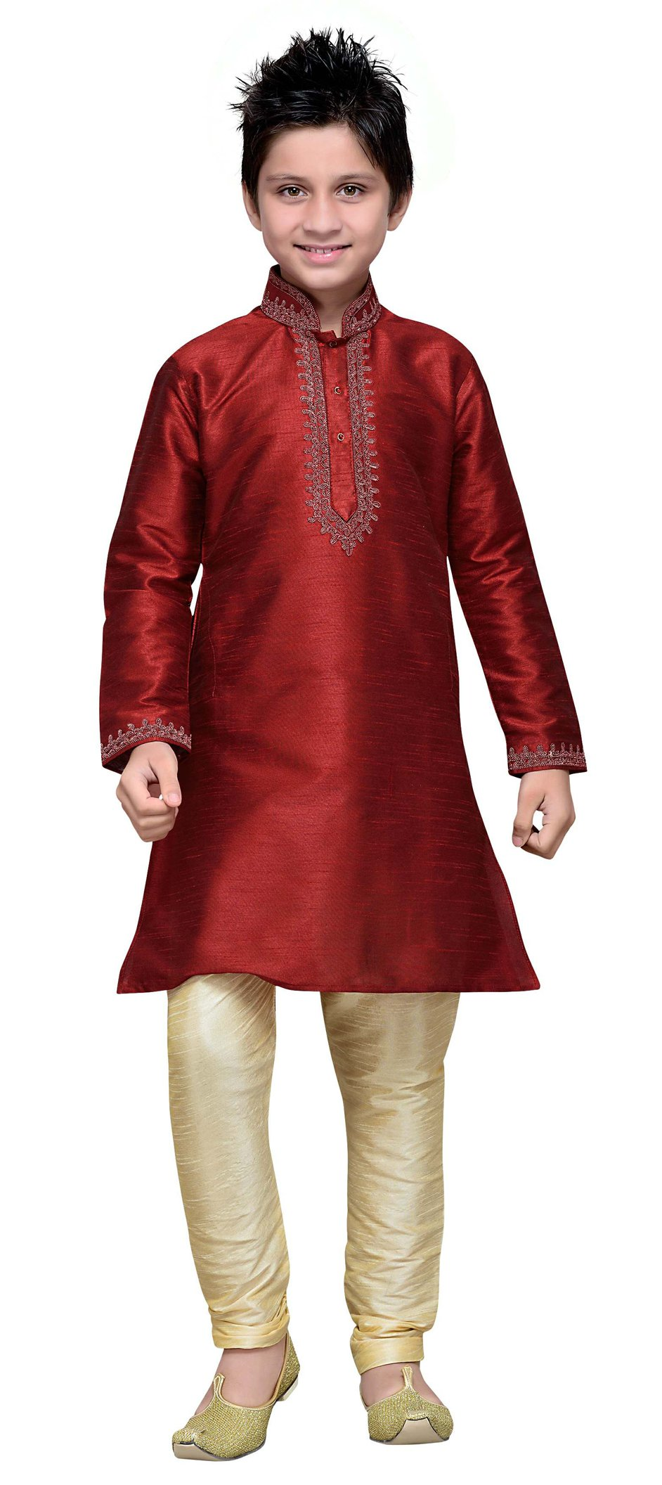 Cellora Dupion Silk Kids Kurta Churidar Pajama 1-14 Years Dupion Silk Party Wear Dress
