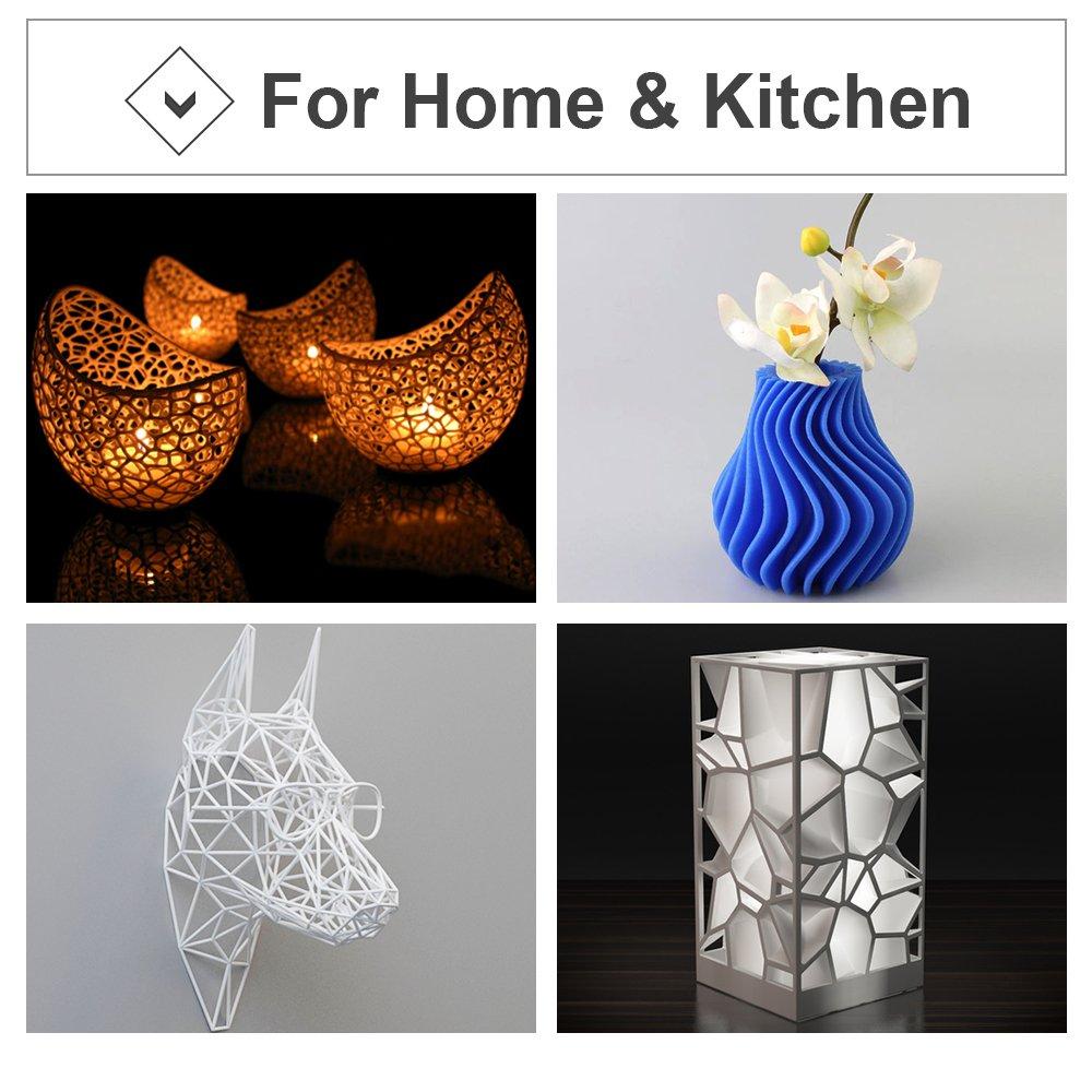 0.04 mm 3D PLA 1.75MM YELLOW Plastic 3D Printer Printing Filament Dimensional Accuracy 1KG 2.2LBS LabelPros B01M1VIW7I //