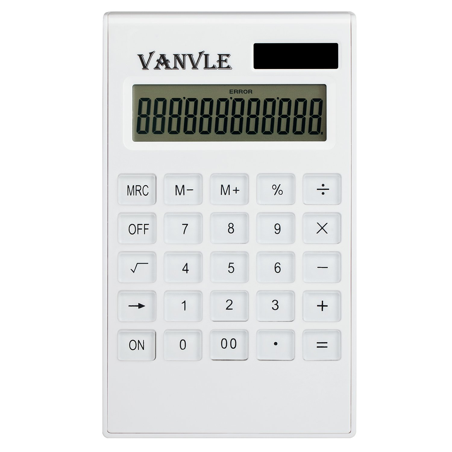 Vanvle Calculator Standard Function Desktop Business Handheld Battery Solar Dual Powered Calculators for Office student with 12-Digit Large LCD Display by vanvle