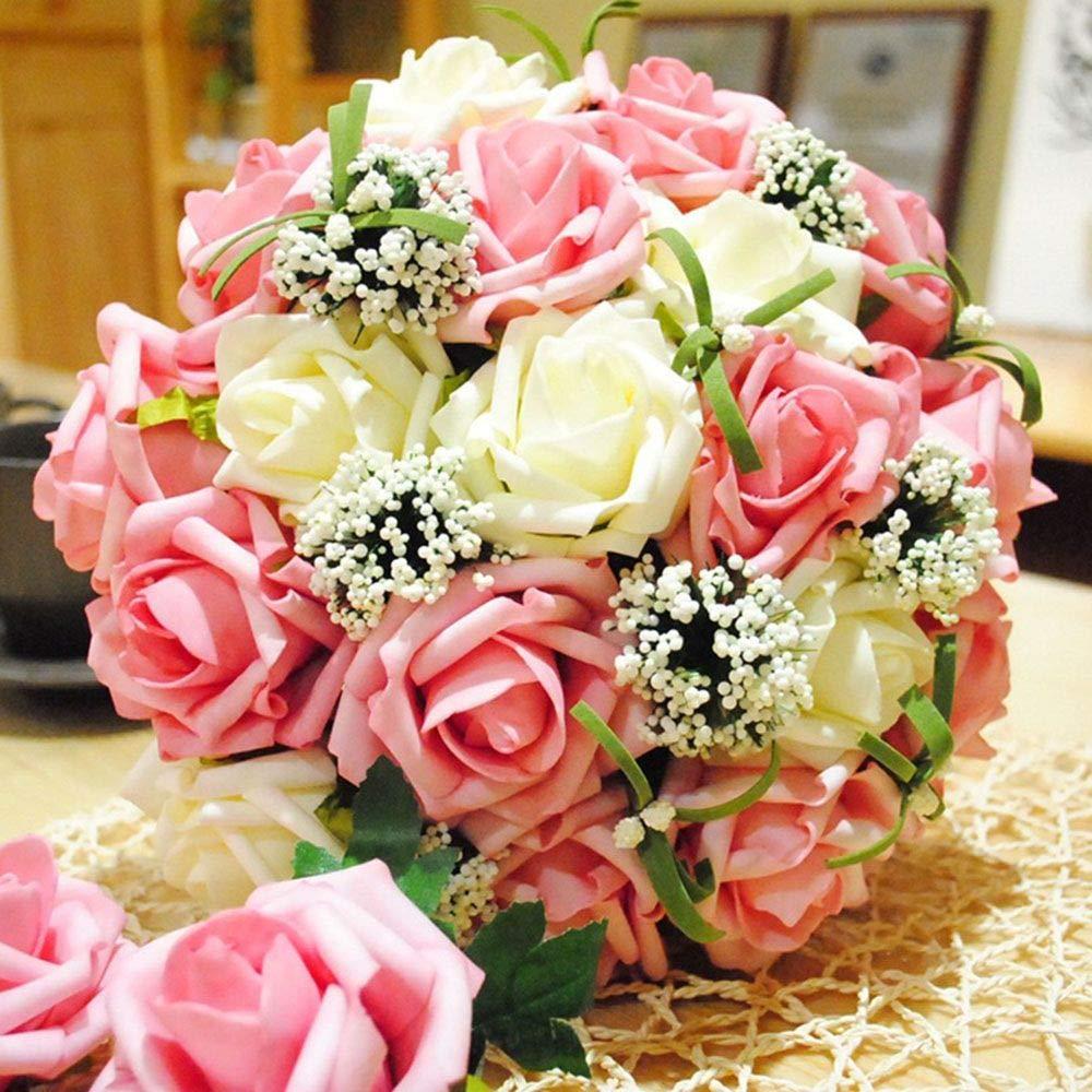 Eorta 12 Pack Bouquet Holders Floral Dry Foam Flower Handles Bridal