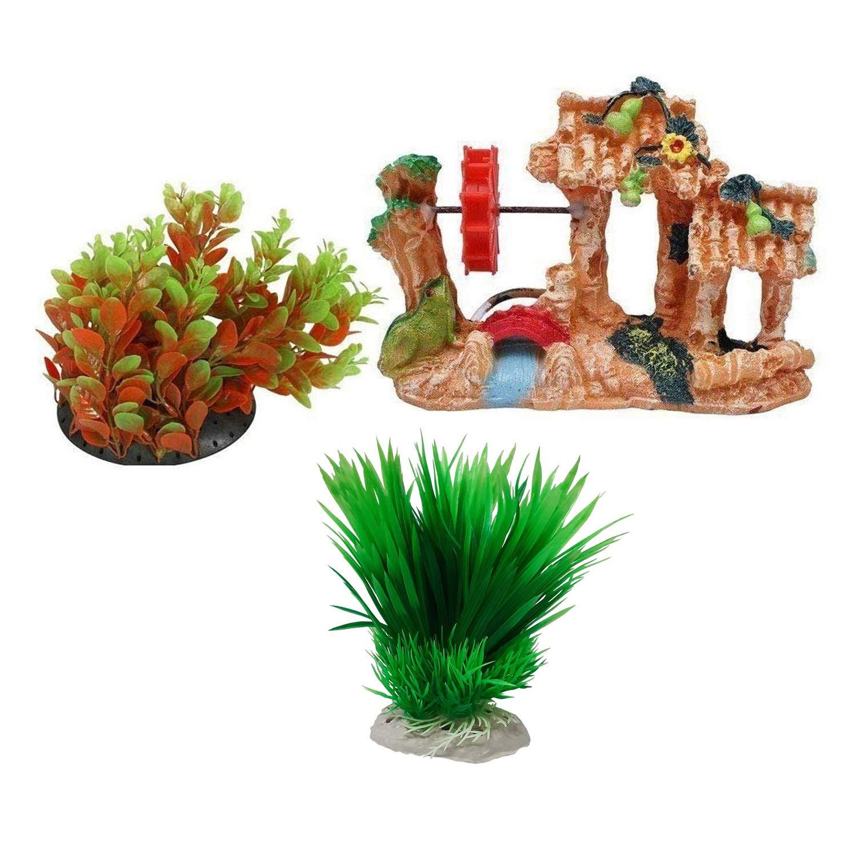 Aquarium Decoration Combo Items Amazon In Pet Supplies