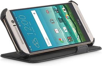 StilGut® UltraSlim V2, Housse avec Fonction de Support et de présentation pour HTC One M9, en Noir