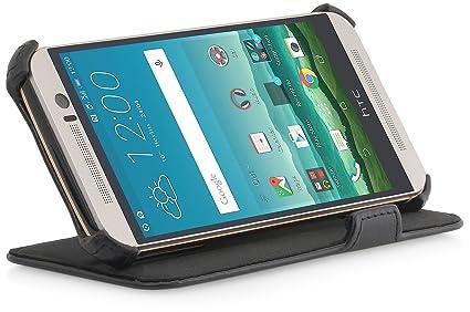 StilGut UltraSlim Case V2, Hülle Tasche mit Stand- und Präsentationsfunktion für HTC One M9, schwarz