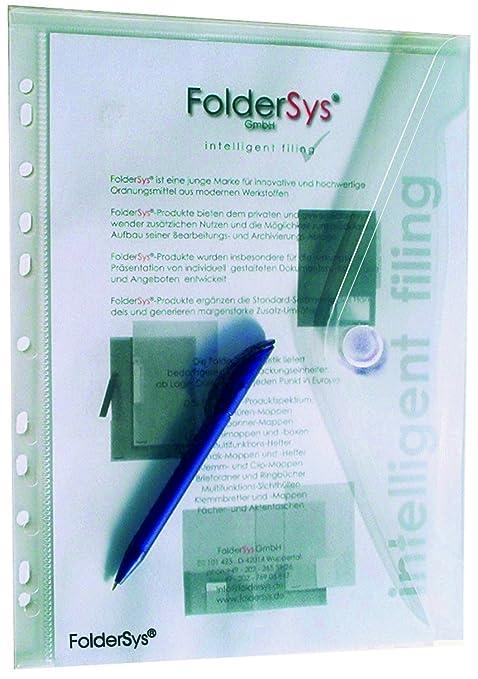 10x Dokumententaschen Umschläge Klettverschluss A4 quer gelb transparent