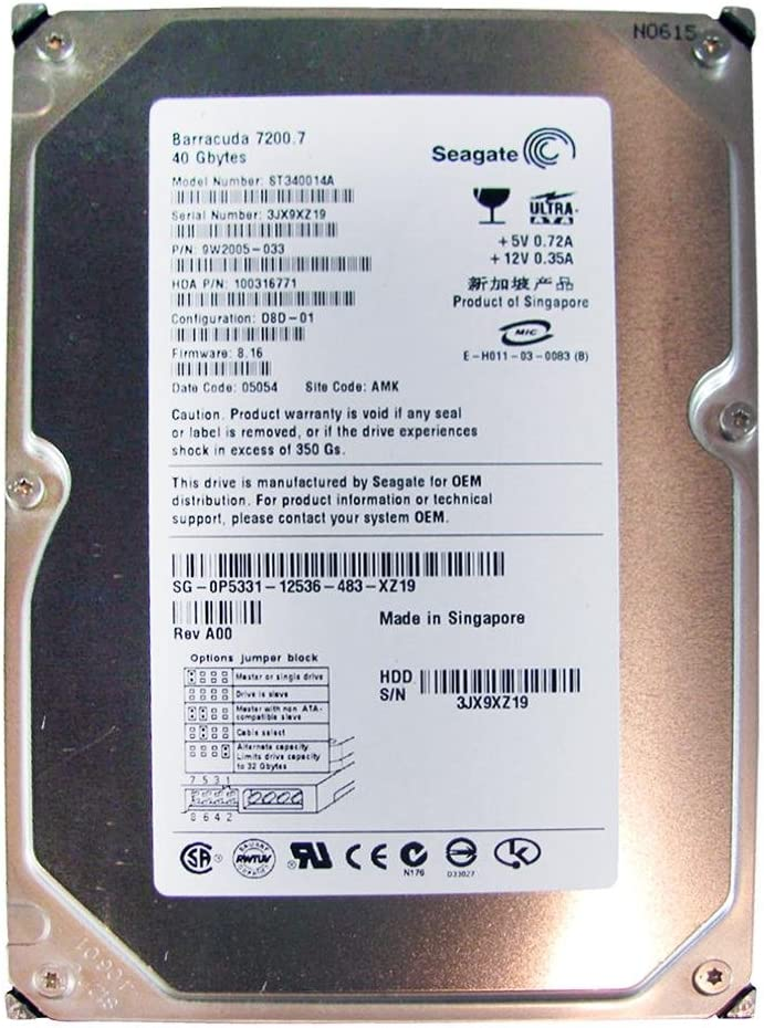 ST340014A Seagate 40-GB 7.2K 3.5 IDE HDD