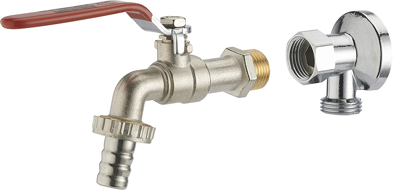 kit robinet 1//4 tour M15x21 nez /Ø15 applique M15x21 F15x21 /écrou libre chrom/ée