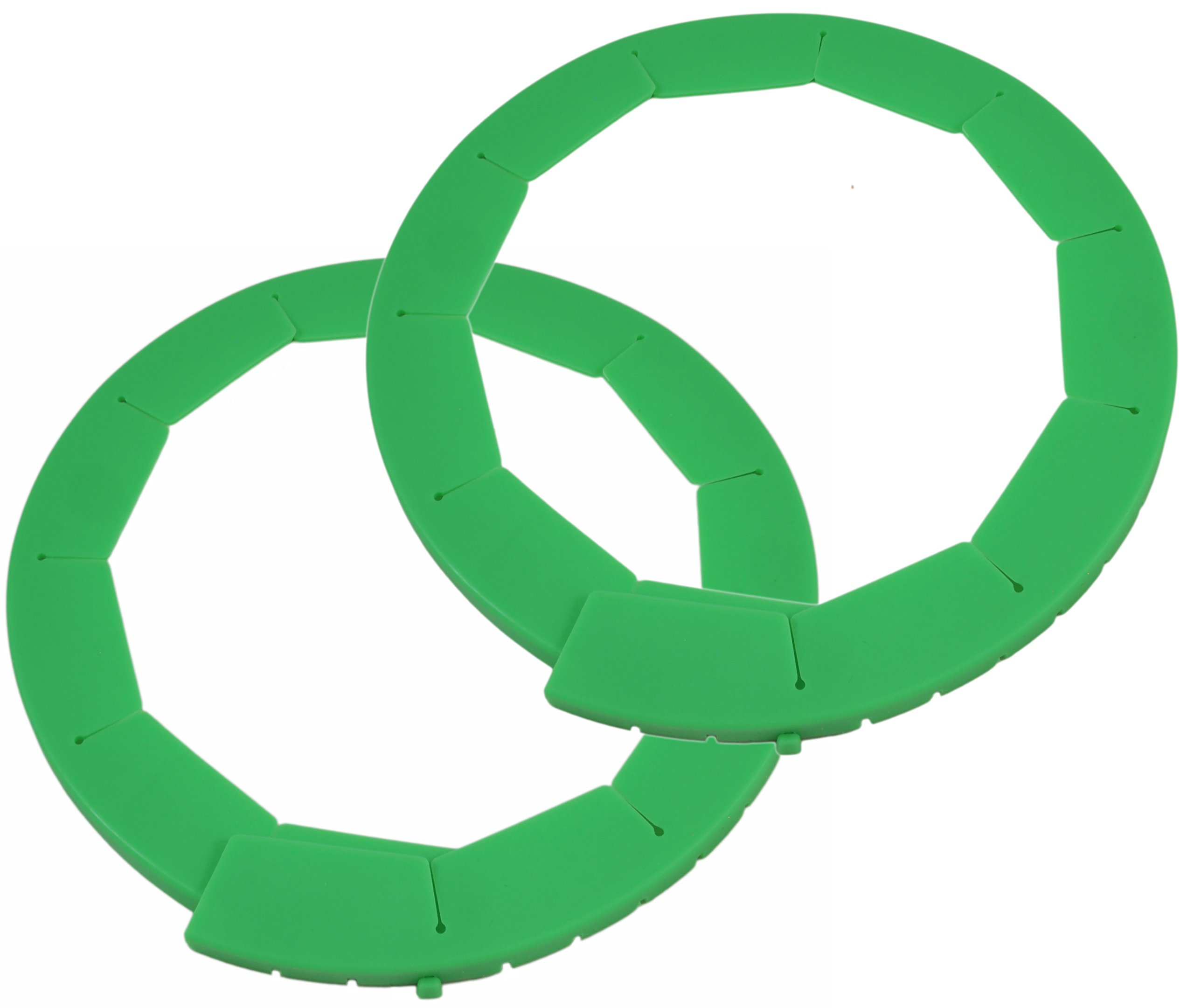 Silicone Pie Crust Shields (2 pack), Adjustable Pie Protectors, Green