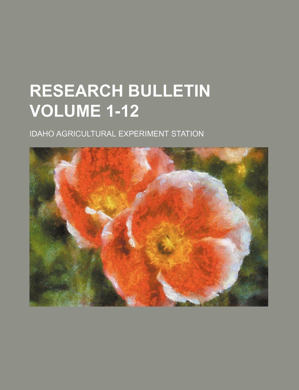 Download Research bulletin Volume 1-12 PDF