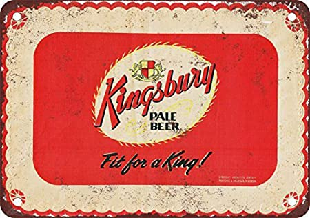 Froy Kingsbury Pale Beer Pared Cartel de Chapa Retro Hierro ...
