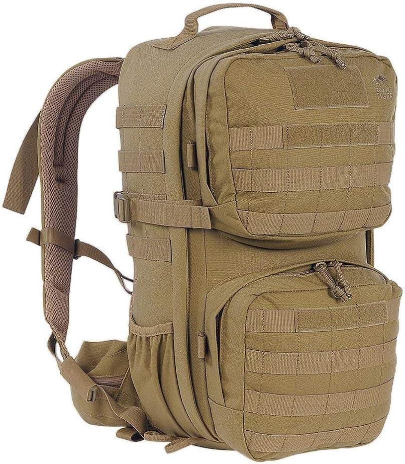 Schwarz Tasmanian Tiger TT Combat Pack MK II Molle-Kompatibler EDC-Daypack mit vielen F/ächern Armee-Rucksack f/ür Damen und Herren 22L Volumen