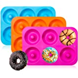3-Pack Silicone Donut Baking Pan of 100% Nonstick Silicone. BPA Free Mold Sheet Tray. Makes Perfect 3 Inch Donuts. Tray…