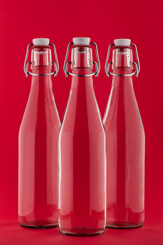 6 x Stü ck 250 ml Bü gelflasche Bü gelverschlussflasche Leere Glasflasche mit Bü gelverschluss Weinflasche Schnapsflasche Flasche mit Klippverschluss 0, 25 Liter Nr. 200ML von slkfactory SLK GMBH