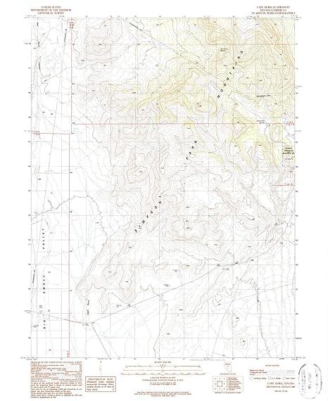 Amazon.com : YellowMaps Cape Horn NV topo map, 1:24000 Scale ...