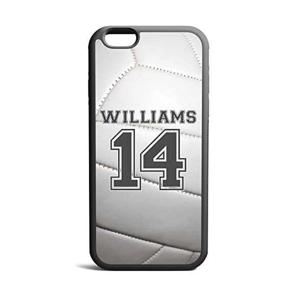 hot sale online 9df1e 841d8 CodeiCases iPhone 5/5s/5SE Volleyball Case With Name And Number, Volleyball  Custom Case, Cover Rubber Black Volleyball iPhone Case